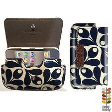 ORLA KIELY iPhone SE/5/4/3 Case Cover Flip Wallet NAVY ACORN(NEW) Free SHIPPING!