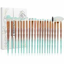 Tenmon Brush Set 20pcs Unicorn Shiny Gold Diamond Makeup Brushes