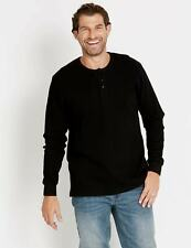 NEW Mens Rivers Waffle Henley Long Sleeve Tee | Tanks Tees Tops