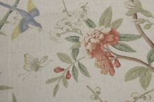GP & J Baker Peony and Blossom curtain upholstery fabric 2.6 metres multi/grey
