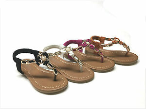 New Toddle/Kids Girls T-Strap Summer Sandal Size 5 ~ 10