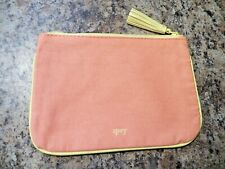 IPSY Makeup Bag August 2018 (Bag Only) - NEW Cosmetics Case Orange Canvas