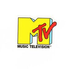 Yellow MTV music video guitar suitcase phone 5x6.5cm decal vinyl sticker #1183