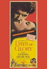 DAYS OF GLORY Movie POSTER 27x40 Gregory Peck Lowell Gilmore Maria Palmer Alan