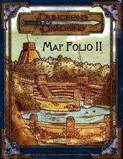 MAP FOLIO II SEALED NEW 2 TWO Dungeons Dragons Adventure Module Shrink D&D Game