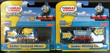 Thomas & Friends Take-n-Play Sodor Cement Mixer + Sodor Mining Co. ~NEW SET OF 2