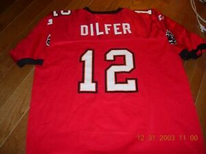 RARE 1990s TRENT DILFER #12 Tampa Bay Bucs sz18-20 Jersey,MINT GIFT CONDITION
