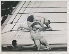 "1933 Ed ""Strangler"" Lewis vs. Joe Savoldi, Heavyweight Wrestling, Original Photo"