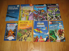 Lot 8 Books Scholastic Level 4 - Transformer/Lego/Science/History Free Shipping