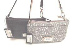 Guess Women's Wallet Wristlet *Truthfulness SLG* Coal Taupe w /G Logo Clutch