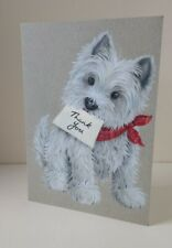 Greeting Card - Westie Dog Thank You
