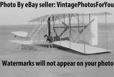 '03 Wright Brothers Wilbur Flying Machine/Airplane Kitty Hawk Trial Flight Photo