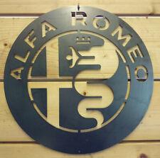 Premium ALFA ROMEO Logo Metal Sign Hand Finished Wall ART VINTAGE GARAGE CAR