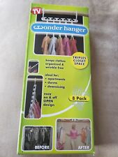 Wonder Hanger Pack of 8 Hangers Space Saving Cascading Triples Closet Space NEW!