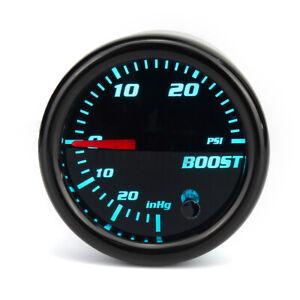 """2"""" 52mm Turbo Boost Gauge Tinted 7 Color Vacuum Turbo Meter 0-30 PSI Pressure US"""