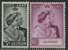 Ascension KGVI 1948 Silver Wedding set mint o.g.