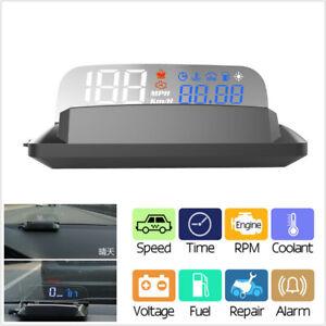 1Pcs Universal Car OBD2 HUD Head-Up Display Speedometer RPM MPH Mirror Projector