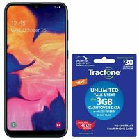 Tracfone Samsung Galaxy A10 4G LTE Prepaid Phone w/ $30 Airtime Plan Included