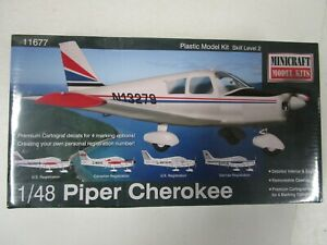 Sealed Minicraft Piper Cherokee 1:48 Scale Model Airplane Kit #11677