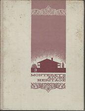 Monterey adobe heritage by mayo hayes macdonald 1968 hc monterey savings & loan