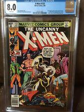 X-Men #132 CGC 8.0  White pages 1st Sage NEWSSTAND