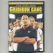 "Gridiron Gang 2006 PG-13 football sports movie, new DVD Dwayne ""Rock"" Johnson ws"