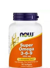 Super Omega 3-6-9 1200 mg 90 Gels NOW Foods Fast Free 1st Class Shipping