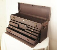 Vtg Kennedy 526 machinist 8 drawer metal tool box mechanics storage chest case