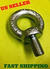 LOT OF 12, M16 5/8 Lifting Shoulder Eye Bolt Machinery Steel Zink Plated # 2455