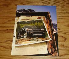 Original 2002 Toyota 4Runner Foldout Sales Brochure 02