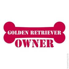 Golden Retriever Owner Bone Decal Sticker Choose Color + Size #1634