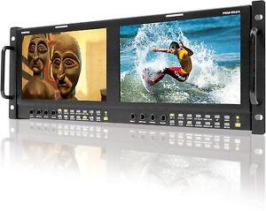"""TVLogic PRM-902A(800x480): Dual of 9"""" LCD rack monitor(4RU),Waveform/Vectors"""