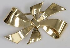 Vintage 14ky Gold Bow Brooch ** Tiffany & Co.