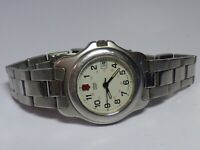 SWISS ARMY LADIES ALL STEEL WHITE DIAL QUARTZ WATCH WITH DATE