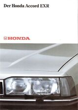 Prospekt / Brochure Honda Accord EXR 80er Jahre