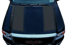 Custom Vinyl Graphics Decal Wrap Kit for 2014-17 GMC Sierra RACING STRIPES Gray