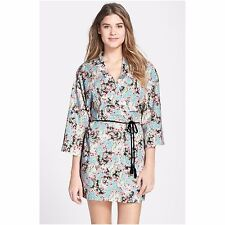 NEW NWT Only Hearts Women's Love The One You're With Kimono, Buffalo Check, M/L