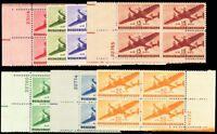 C25-C31, Mint VF NH Plate Blocks of Four Stamps - Stuart Katz
