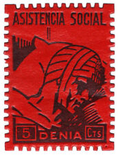 (I.B) Spain Civil War Cinderella : War Charity 5c (Denia)