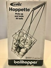 Nib! Gamma Ballhoppper Hoppette 50 portable Tennis Ball Metal basket/holder Bhh1