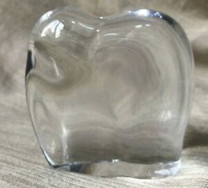 """Baccarat France Clear Glass Elephant  Figurine 3"""" Stamped"""
