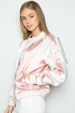 6cbe300c5bf LAST ONE! NEW brandy melville 90s Pink silky Satin Ellie bomber Jacket NWOT