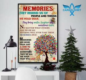 Giraffe memories they remind us of people and things we hold dear poster