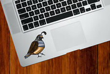 CLR:TP - Quail Bird - Stained Glass Style Vinyl Trackpad Decal ©YYDC (5w x