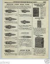 1919 PAPER AD Hercules Spark Plug Plugs Store Display Dealers Cabinet Signs