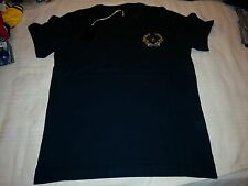 BILLIONAIRE ITALIAN COUTURE T-SHIRT BLUE NAVY Sz S B.I.C. EMBROIDERED LOGO