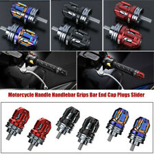 2PCS Motorcycle Handle Handlebar Grips Bar End Cap Plugs Slider Aluminum Alloy