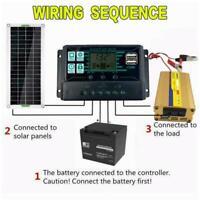 100 Watt 150 W Solarpanel Kit 12 Volt Batterieladegerät RV O6Z4