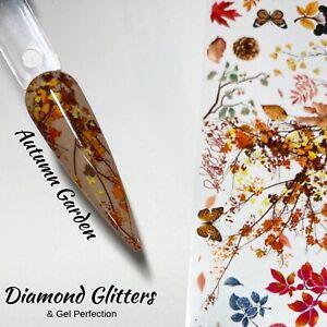 Nail Transfer Foil 1m Floral Autumnal Full Coverage Nail Art Autumn Garden