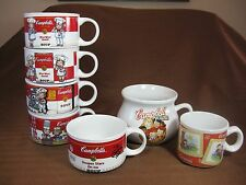 Campbell's Soup 7 Mug/Cup Collection 1997 (4) Signed 1998 (1) 2003 (2)